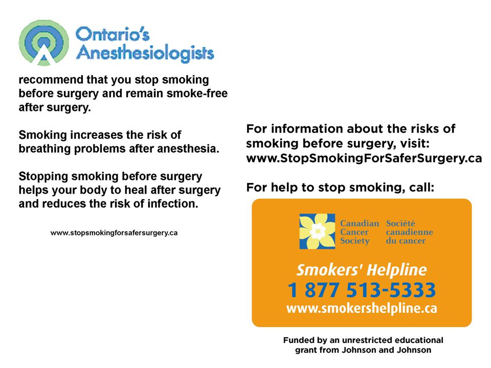 Stopping Smoking Before Surgery: Advantages and Issues Dr