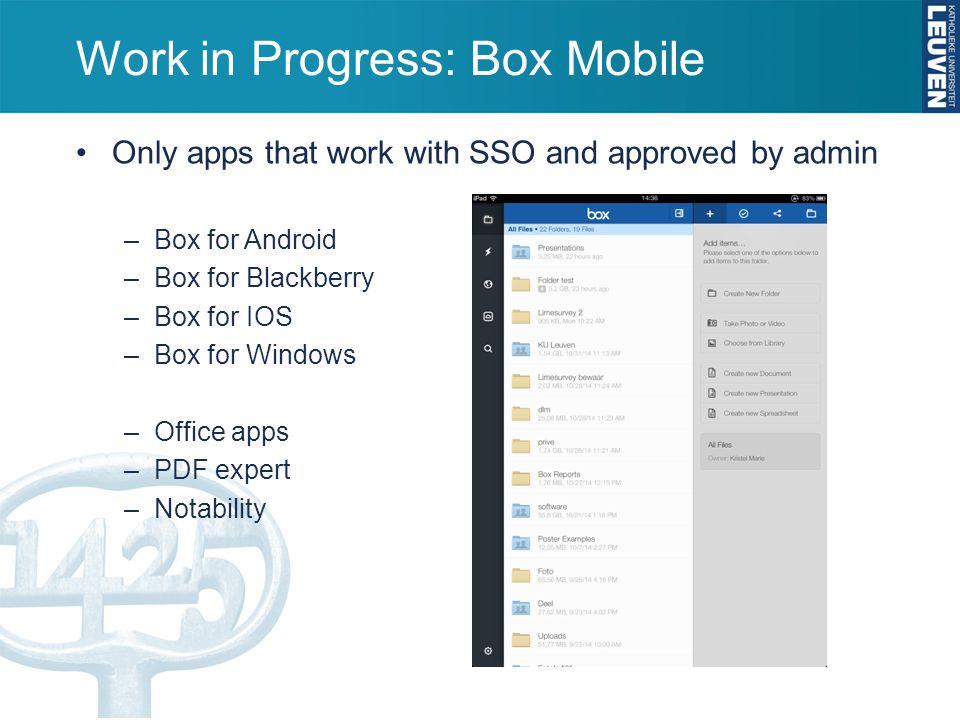 Box User Days 1 – 2 april Box Enterprise Leuven –What? –Why