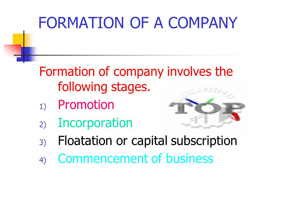 formation of a company chapter 3 a joint stock company does not
