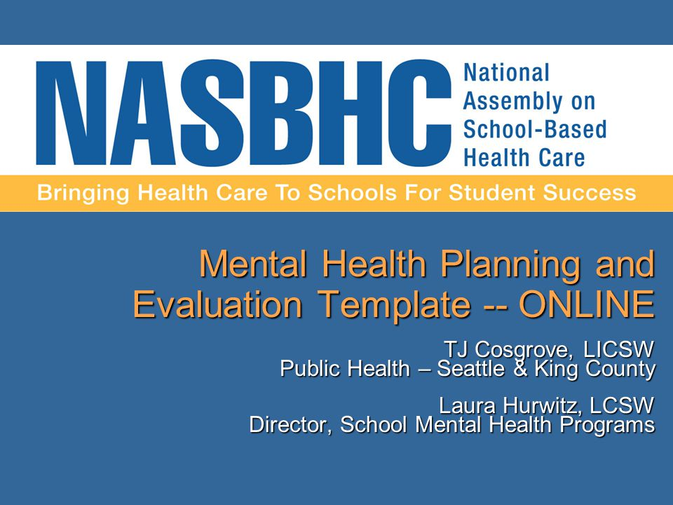Mental Health Planning And Evaluation Template Online Tj Cosgrove