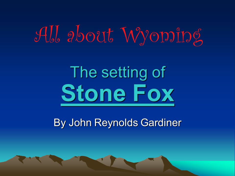 5 4 3 2 1 the setting of stone fox by john reynolds