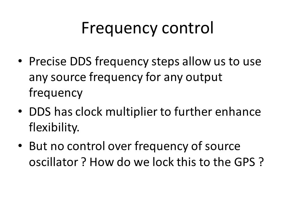 Universal Frequency Reference Presented first at Gippstech 2012 V1