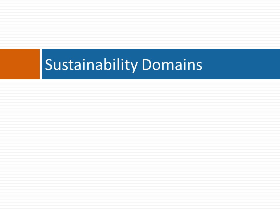 Sustainability Domains