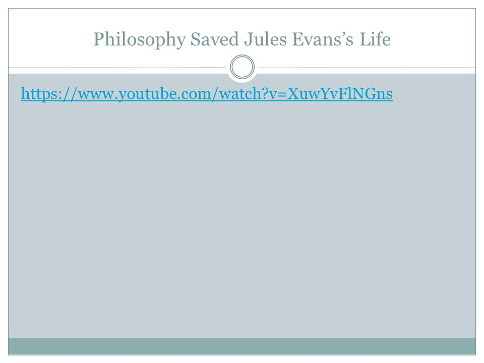 Philosophy Saved Jules Evans's Life https://www.youtube.com/watch v=XuwYvFlNGns
