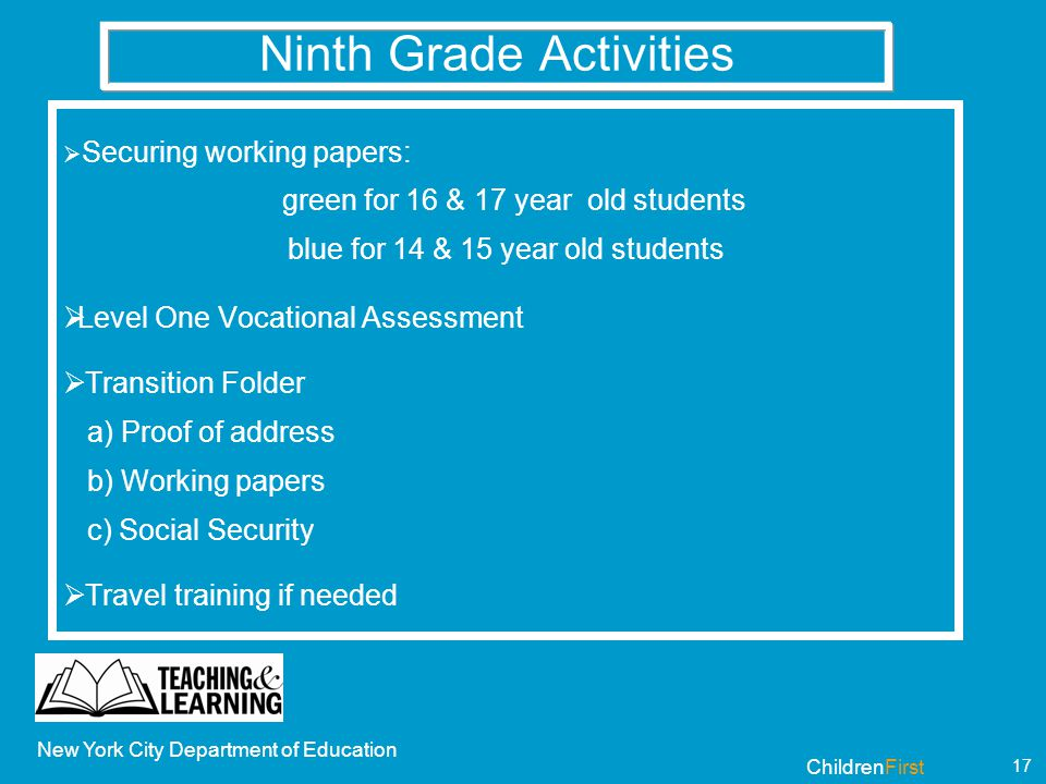 Where Can 16 Year Olds Work In Nyc
