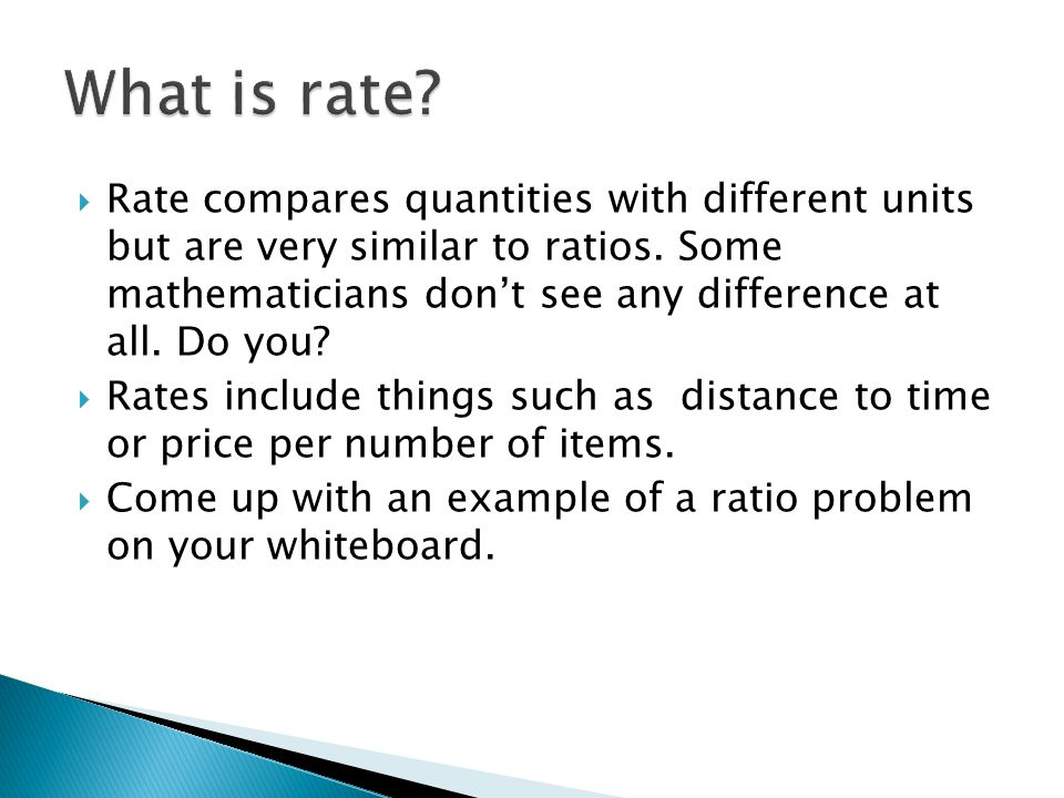 Decimals Rate Ratio And Percent How Are Two Things Related