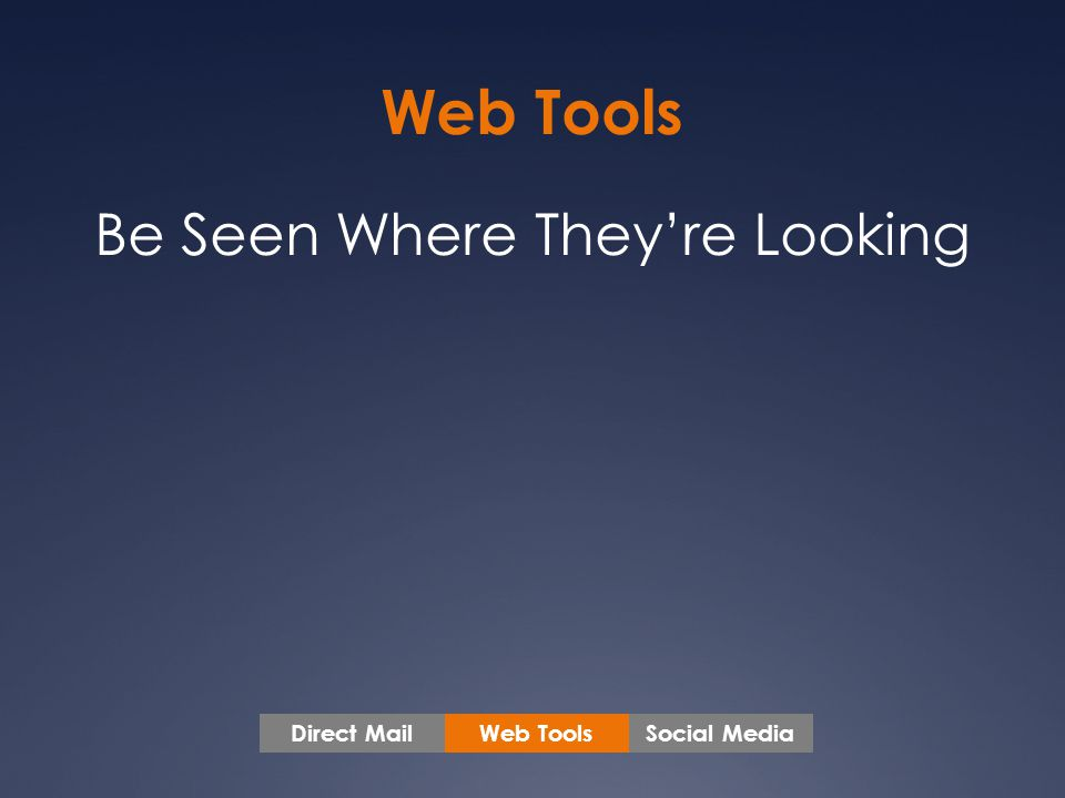 Web Tools Social MediaDirect Mail Be Seen Where They're Looking