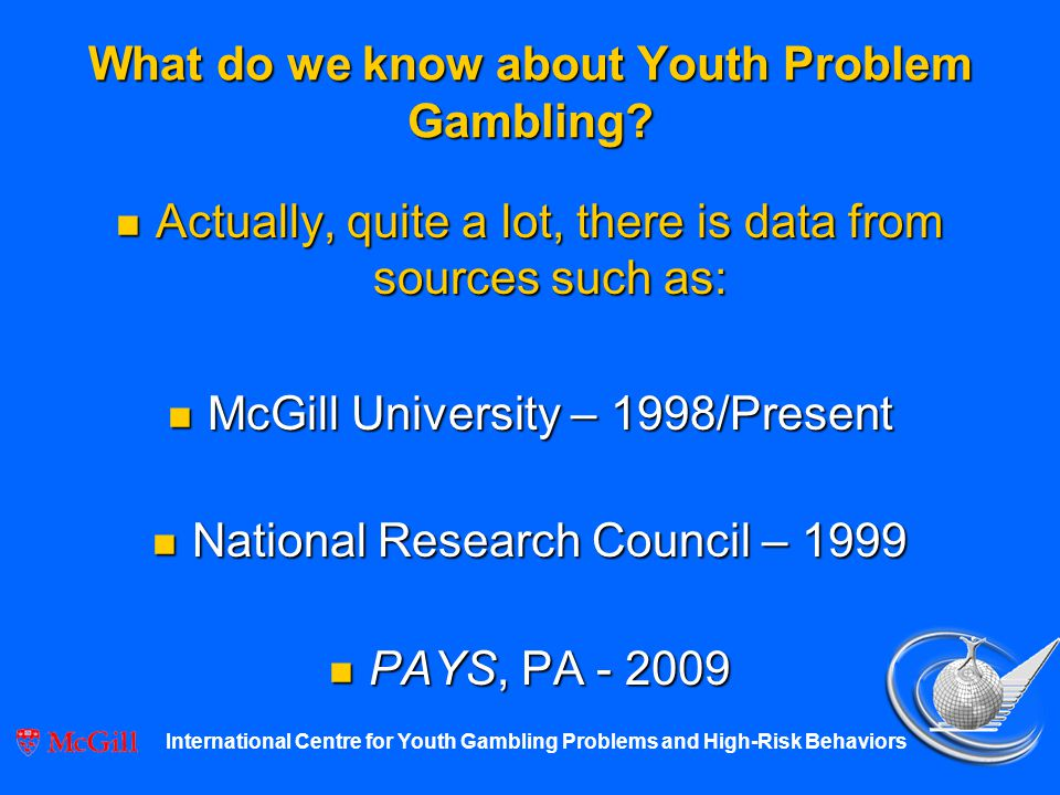 International centre for youth gambling problems how to overcome a gambling addiction