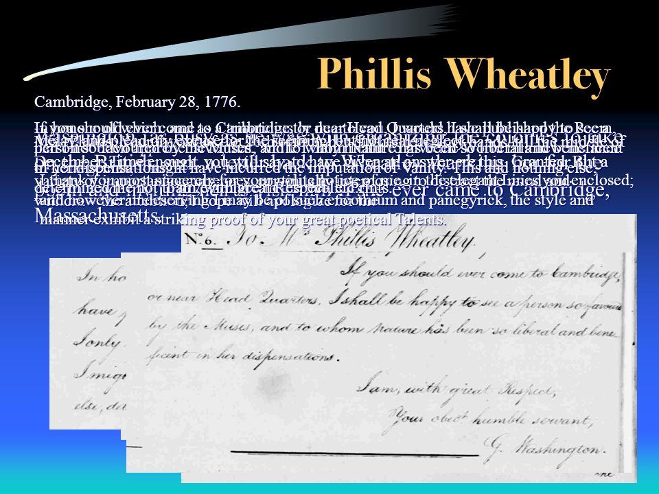 8 Phillis Wheatley Washington: Phillis Wheatley Worksheet At Alzheimers-prions.com