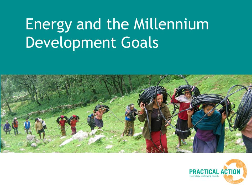 Energy and the Millennium Development Goals