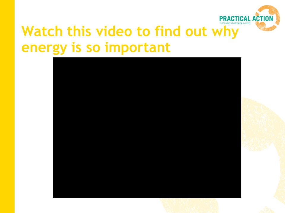 Watch this video to find out why energy is so important