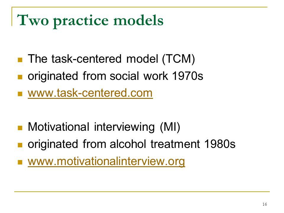task centered model social work practice