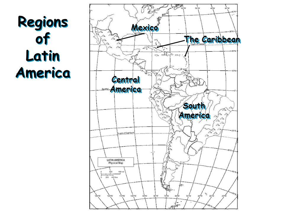 Geography of Latin America. Latin America Latin America has 20 ...