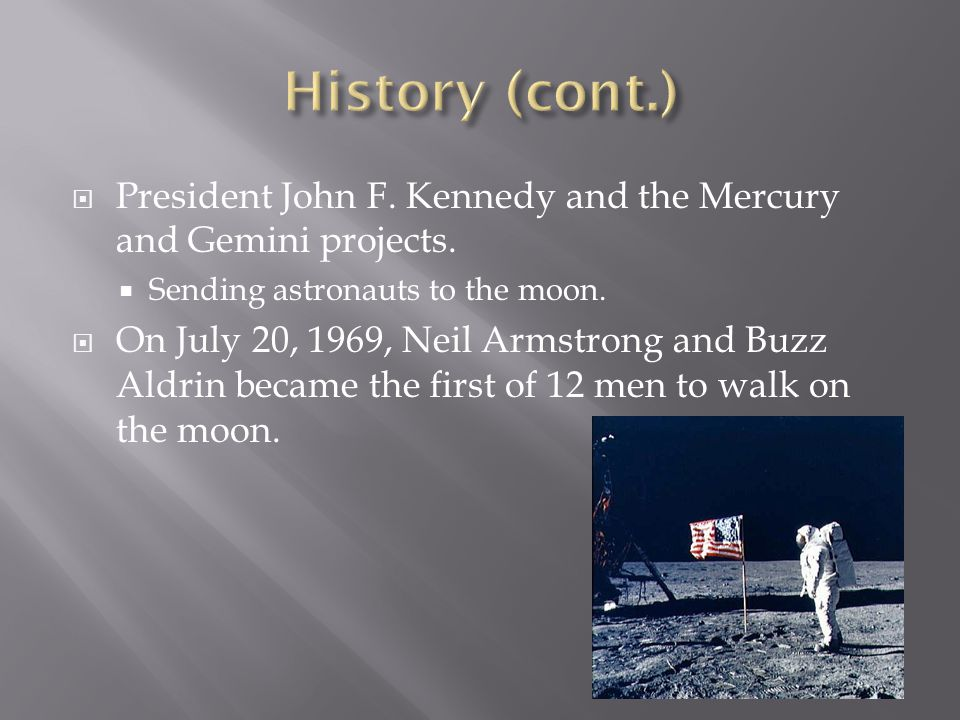  President John F. Kennedy and the Mercury and Gemini projects.