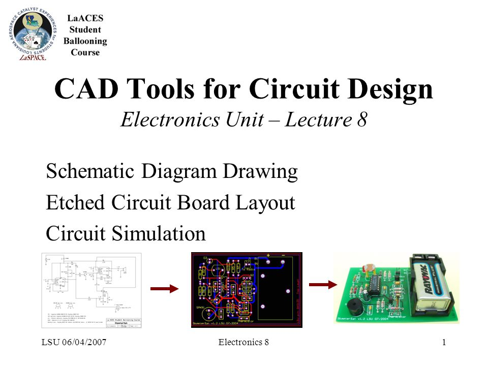 LSU 06/04/2007Electronics 81 CAD Tools for Circuit Design ...