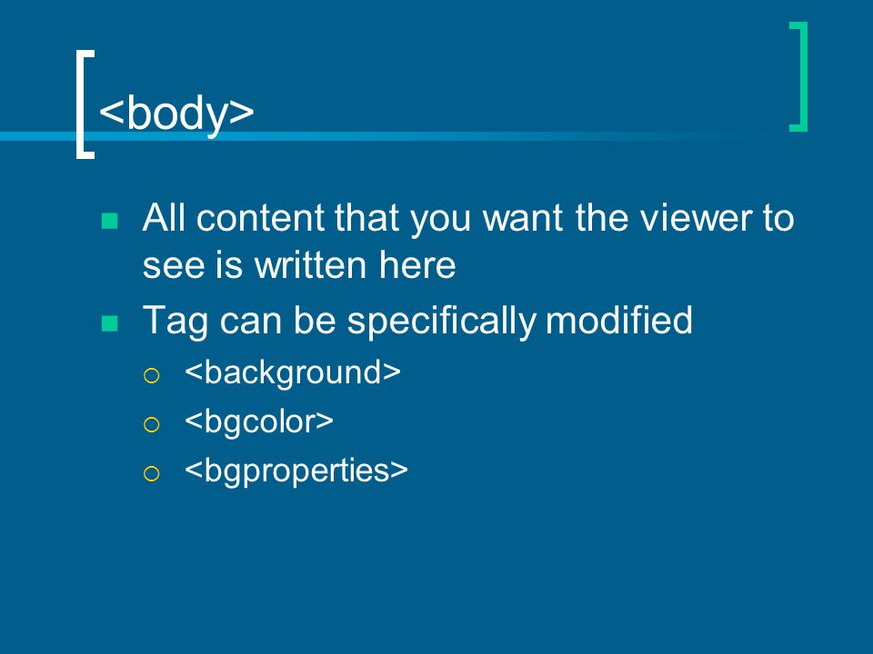 All content that you want the viewer to see is written here Tag can be specifically modified 