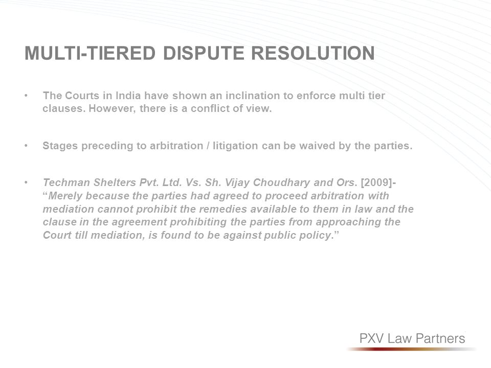 Dispute Resolution In Epc Contracts Mohit Abraham Partner Pxv Law