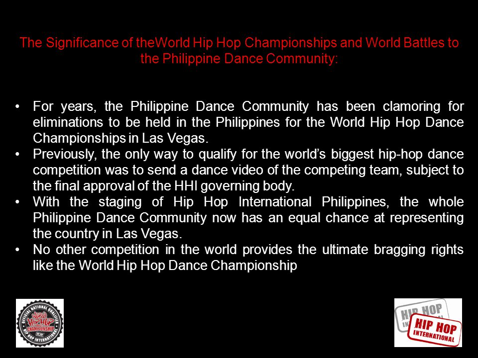 AN OVERVIEW OF HHI Hip Hop International founded in 2002