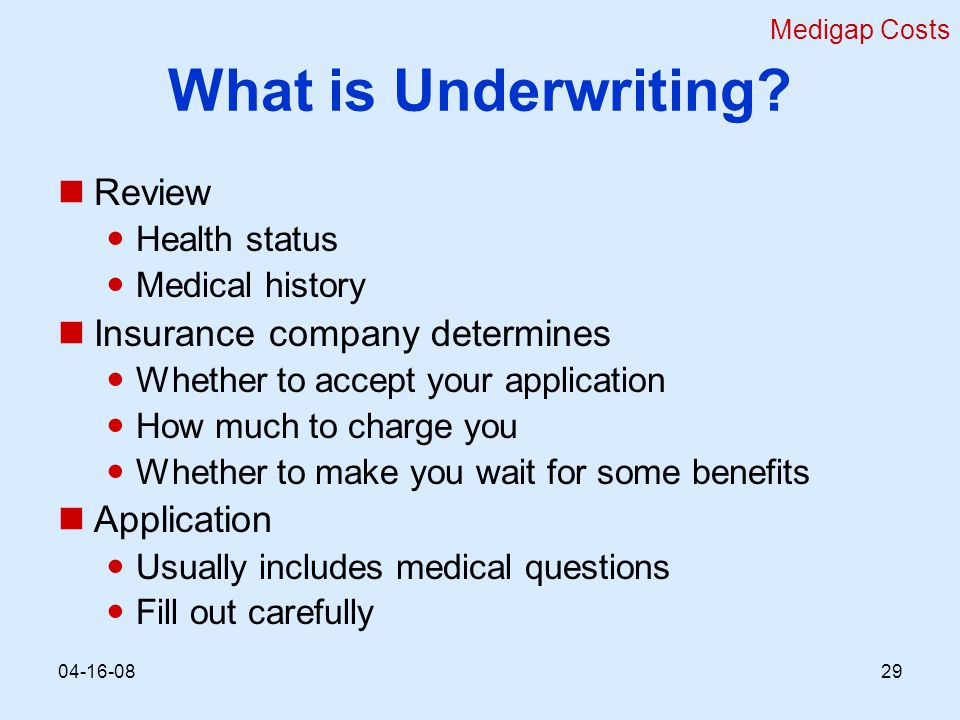 What is Underwriting.