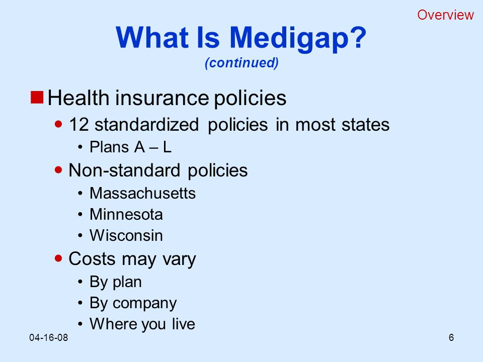 What Is Medigap.