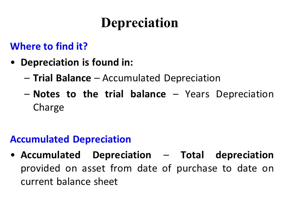 Accumulated Depreciation Definition