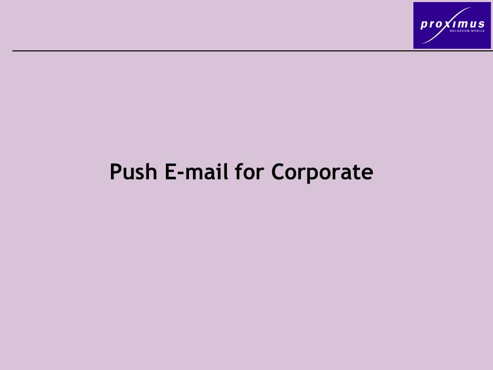 Push  for Corporate