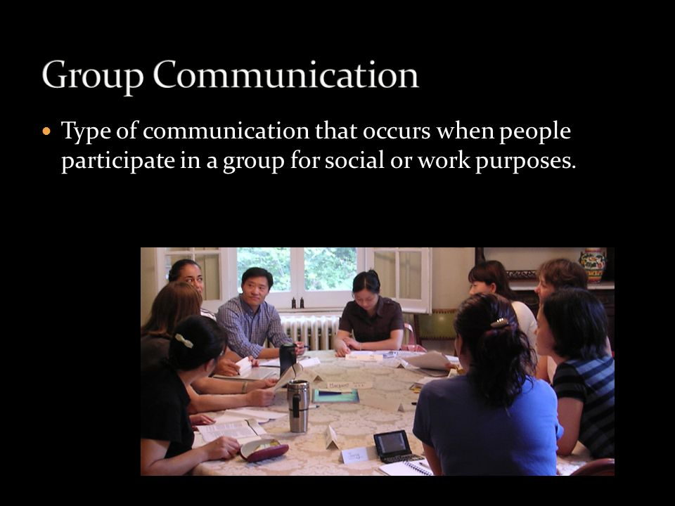 Type of communication in which people (usually two persons) share meaningful information in order to build and maintain long- lasting and important relationships