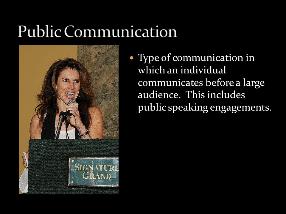 Type of communication that occurs when people participate in a group for social or work purposes.