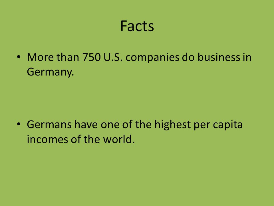 Why Study German?  German and English are Close Relatives! Mouse