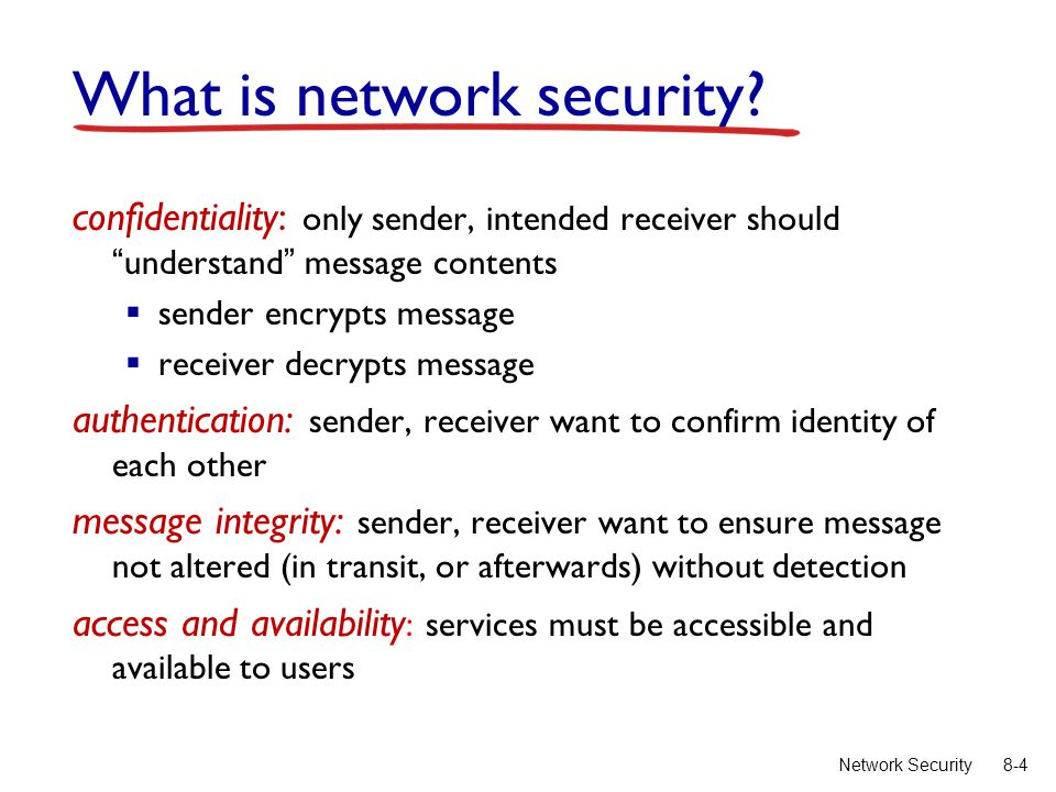 8-4Network Security What is network security.