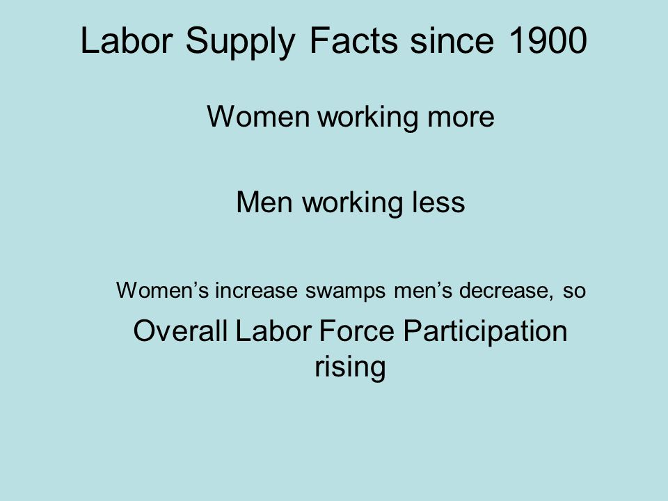 an analysis of the increase of womens labor force The labor force (workforce in british english) is the actual number of people available for work and is the sum of the employed and the unemployed the us labor force was approximately 160 million persons in january 2018.