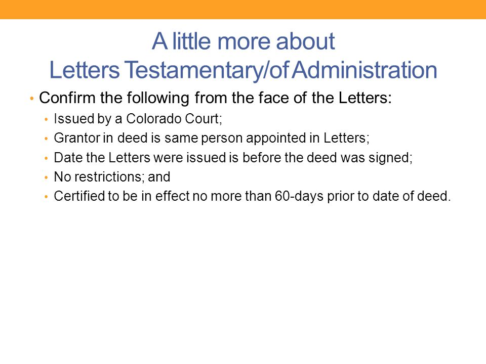court certified letter of testamentary