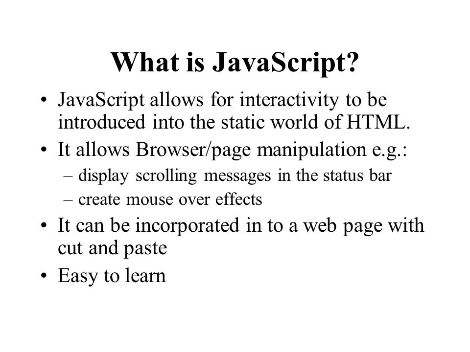 What is JavaScript.