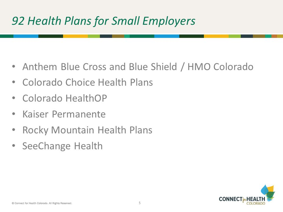Marketplace Overview October What Is Connect For Health Colorado