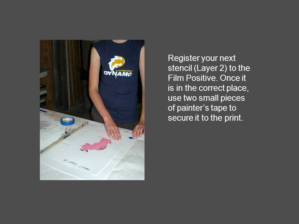 Register your next stencil (Layer 2) to the Film Positive.