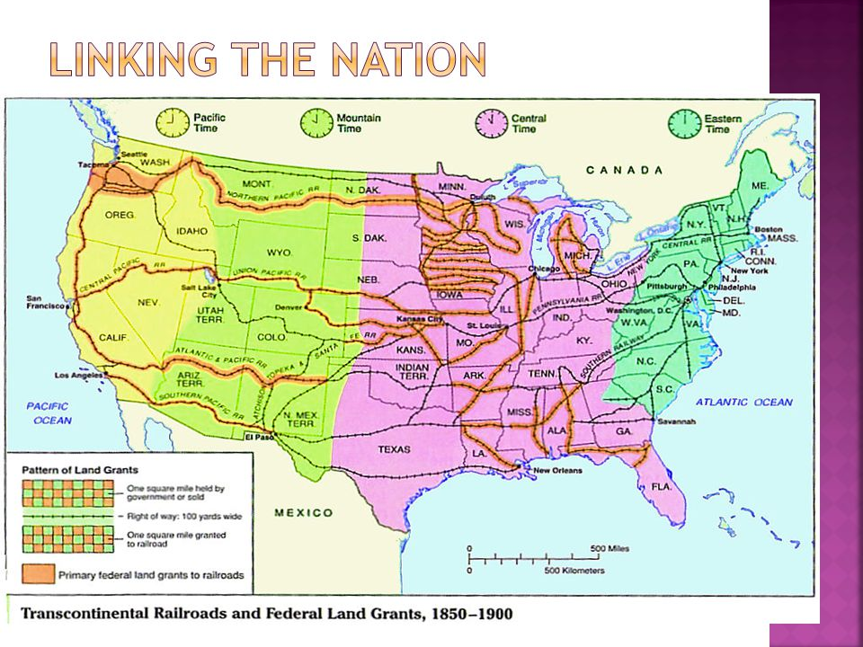 Section Ii In 1865 The United States Had About 35000 Miles Of - Map-of-us-in-1865