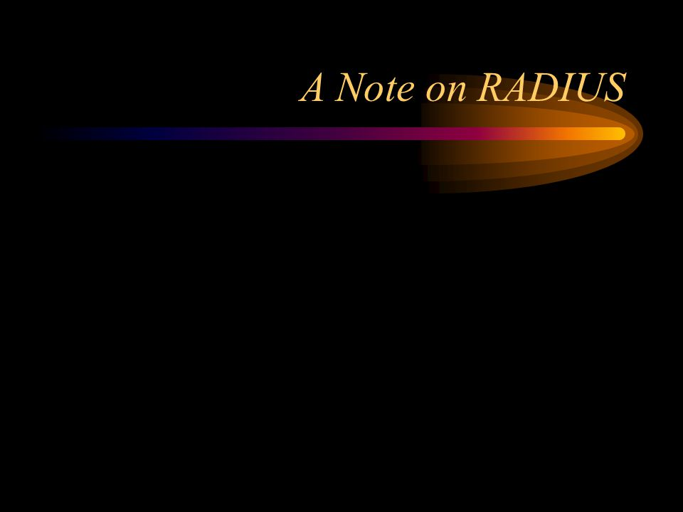 A Note on RADIUS