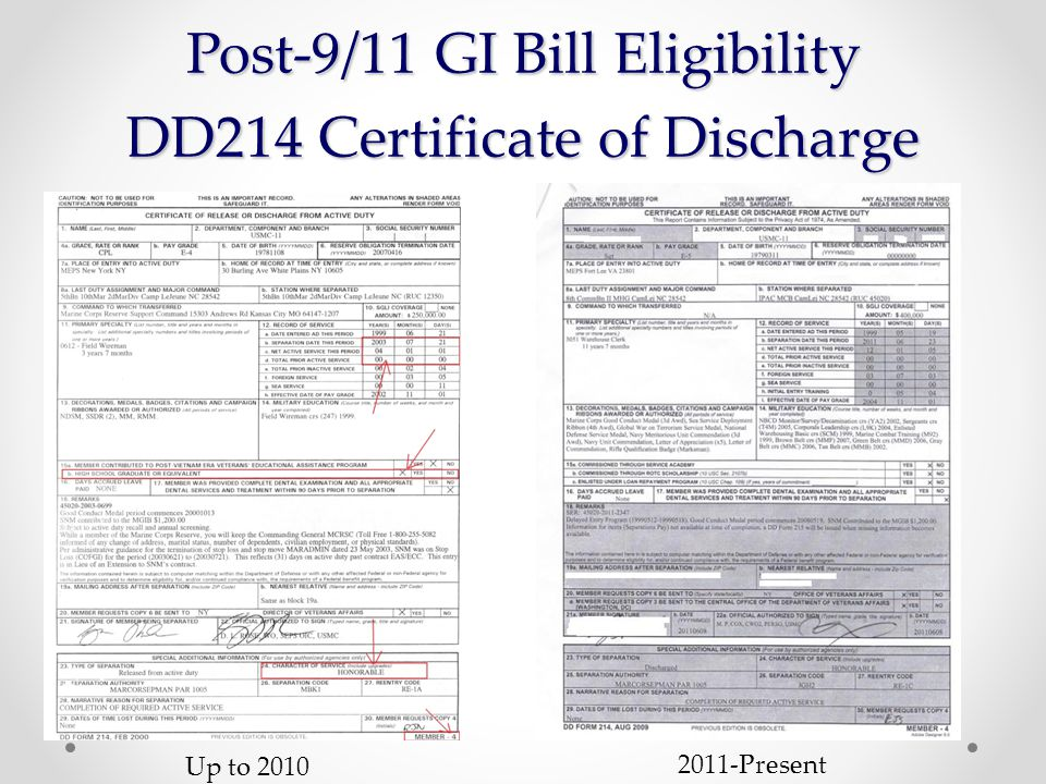 The Post 911 Veterans Educational Assistance Act Of 2008 The Post