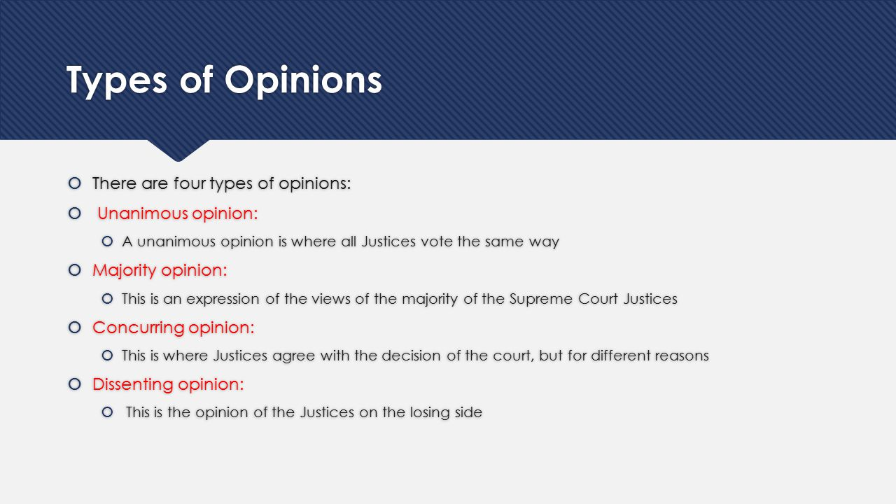 different types of opinions
