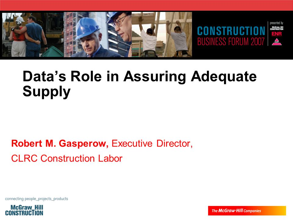 Data's Role in Assuring Adequate Supply Robert M.