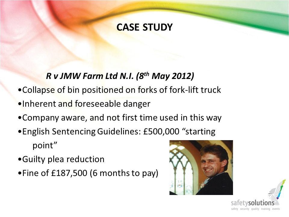 CASE STUDY R v JMW Farm Ltd N.I.