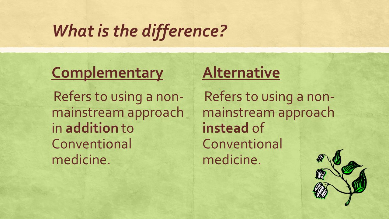 cam complementary and alternative medicine. what is complementary