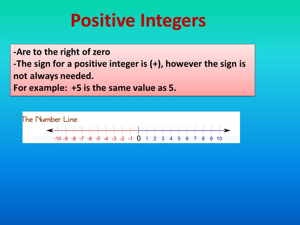 IntegersIntegers IntegersIntegers Integers. Integers can be ...