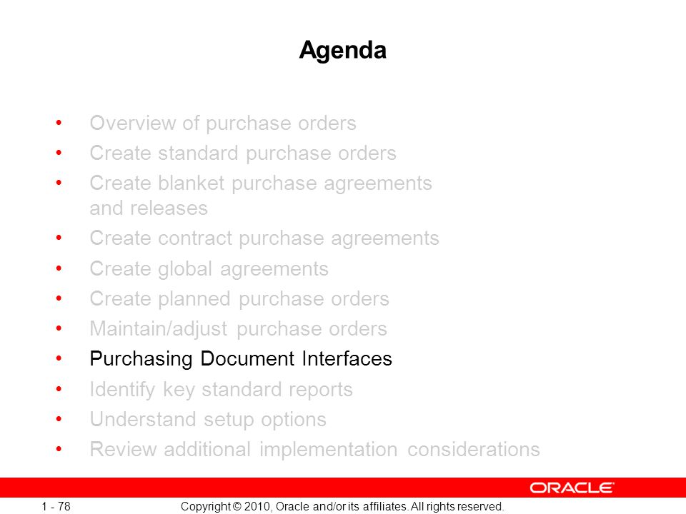 09 Copyright 2010 Oracle Andor Its Affiliates All Rights