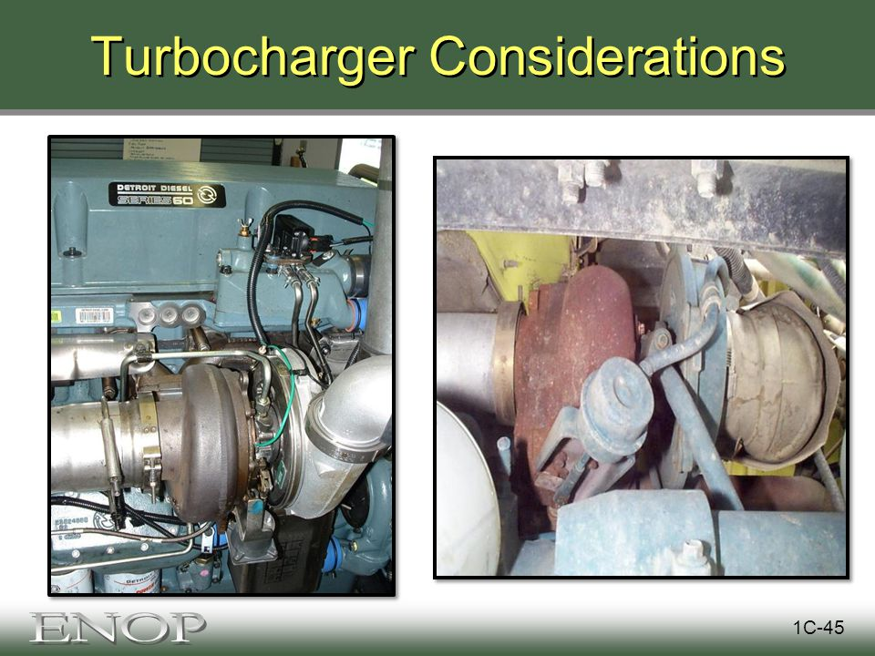 Turbocharger Considerations 1C-45