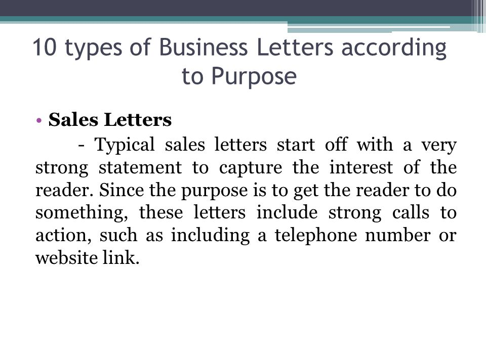 what is the purpose of a business letter