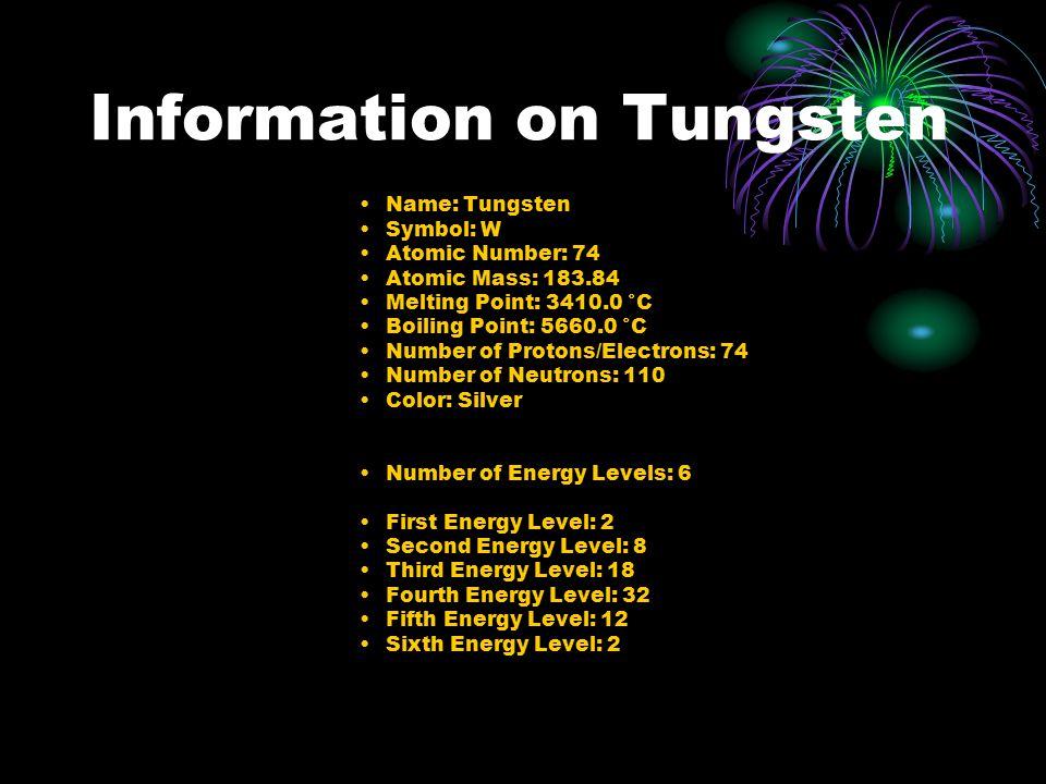 Tungsten By Michelle Smith 74 W Tungsten Ppt Download