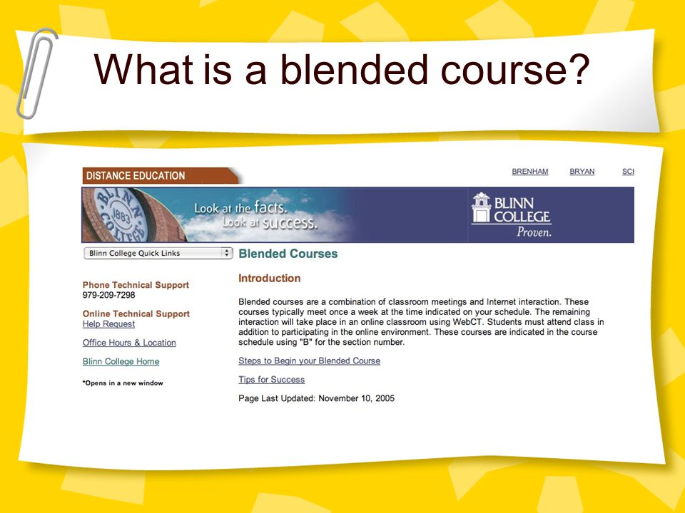 What is a blended course