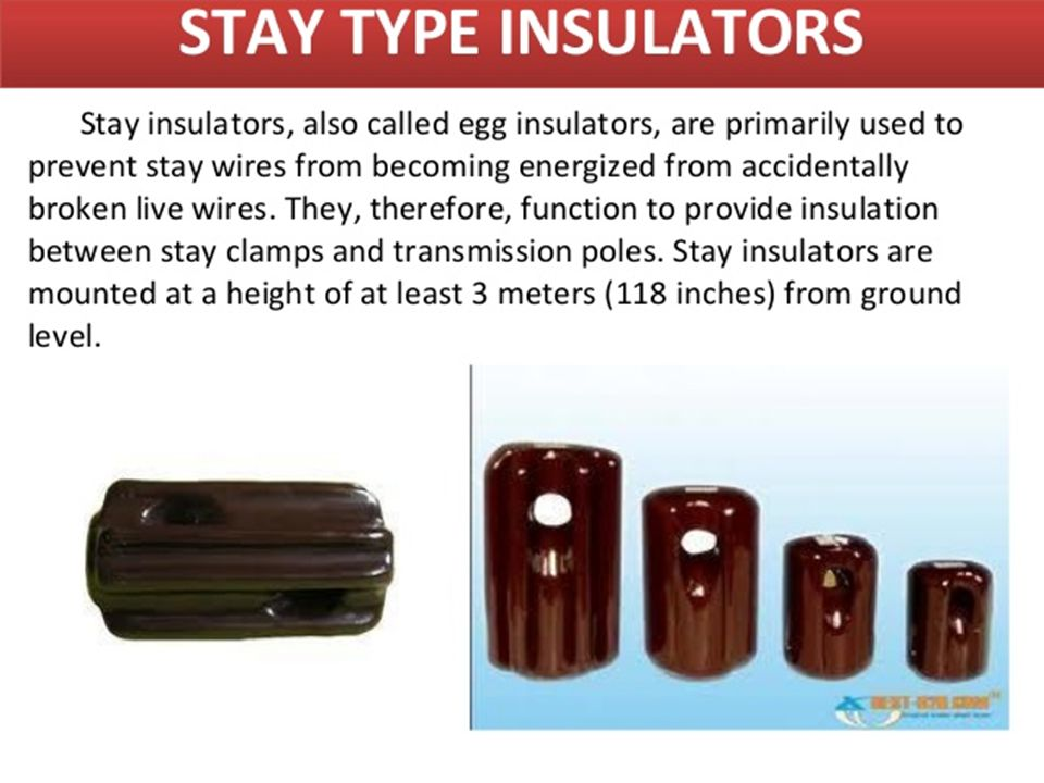 Insulators and its types.