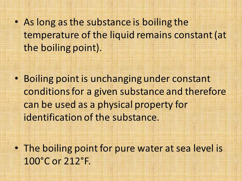 investigate the effect of one factor on the boiling temperature of a liquid essay - the beetroot will be heated for the same time for each one,  temperature « ensuring that the boiling tubes  to investigate the effect of temperature on.